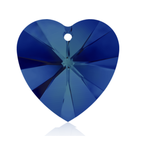 6228 Swarovski Crystal Hearts 14mm Crystal Bermuda Blue Pk144