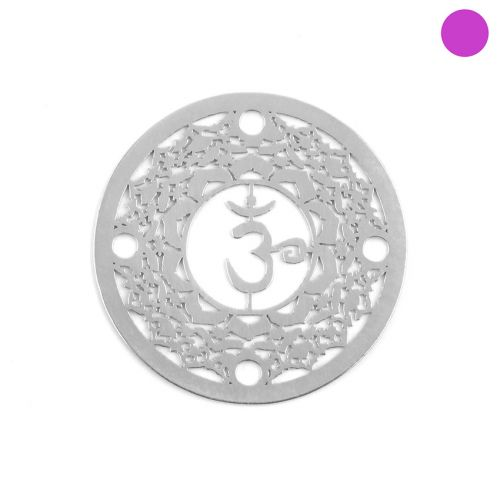 X- Sterling Silver 925 'Space' Chakra Connector 24mm Pk1