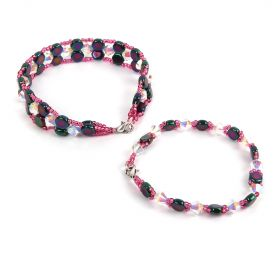 Jet Purple Iris Honeycomb Bracelet Kit - Makes x2 Styles