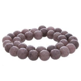 Agate / faceted round / 10mm / brown / 35pcs