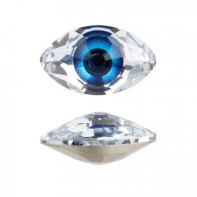 4775 Swarovski Crystal Eye Stone Digital Print Blue F 10.5x18mm Pk1