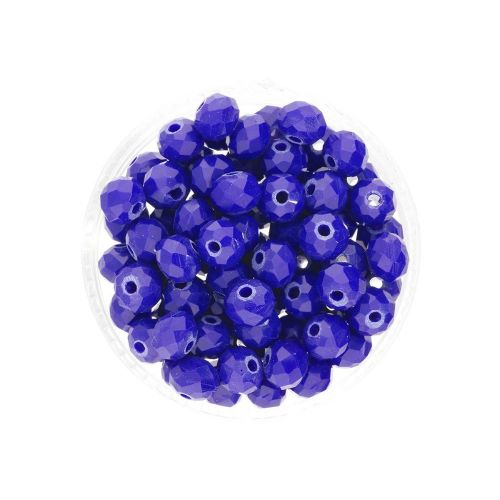 CrystaLove™ crystals / glass / rondelle / 4x6mm / navy / lustered / 86pcs