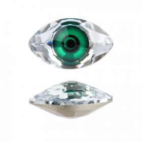 4775 Swarovski Crystal Eye Stone Digital Print Green F 10.5x18mm Pk1