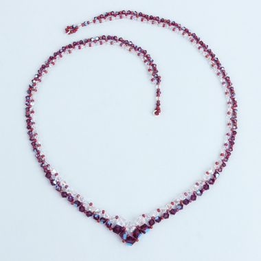 Amethyst Shimmer Graduated Necklace
