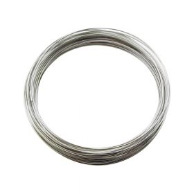 Memory wire / surgical steel / diameter 55mm / oxidized / wire 0.6mm / 40 loops