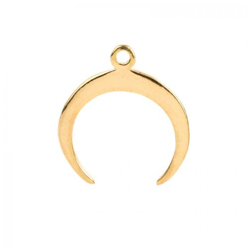 X-Gold Plated Sterling Silver 925 Horn Shaped Charm 15x17mm Pk1