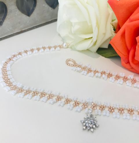 How to make a beaded collar necklace - step by step tutorial