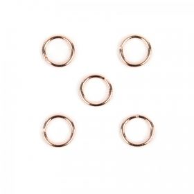 Rose Gold Plated 10mm Jump Ring 1.5mm Thick Pk5