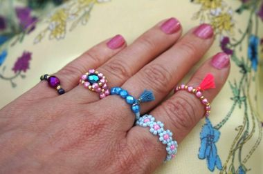How to make Beaded Rings - Tutorial for Beginners