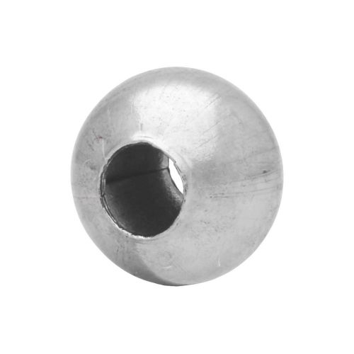 6mm Seamless rounds / surgical steel / silver / 20pcs