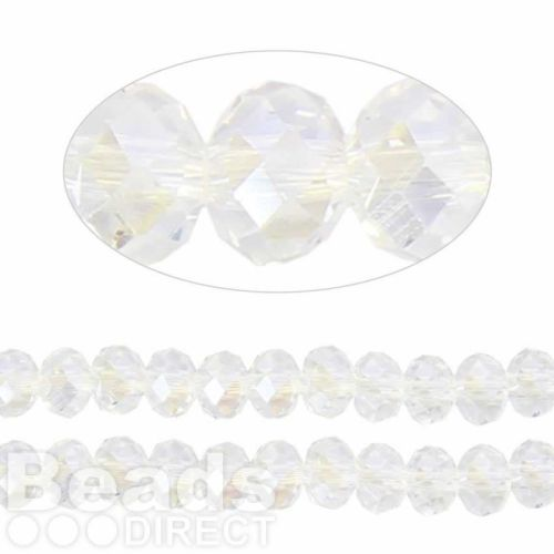 Essential Crystal Faceted 8mm Rondelle Crystal AB 70pack