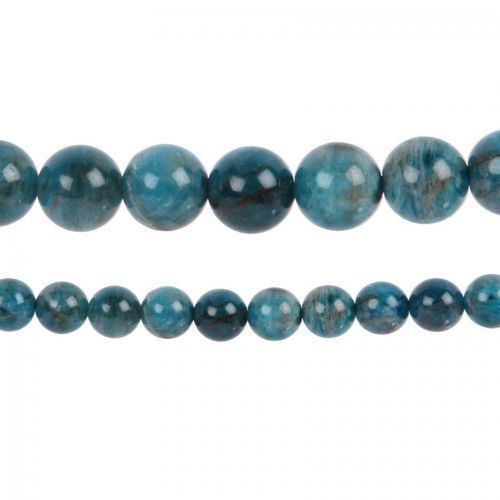 "Blue Apatite Semi Precious Round Beads 12mm 15"" Strand"