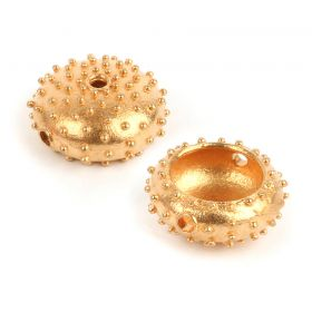 Gold Plated Large Sea Urchin Bead 7x17mm Pk1