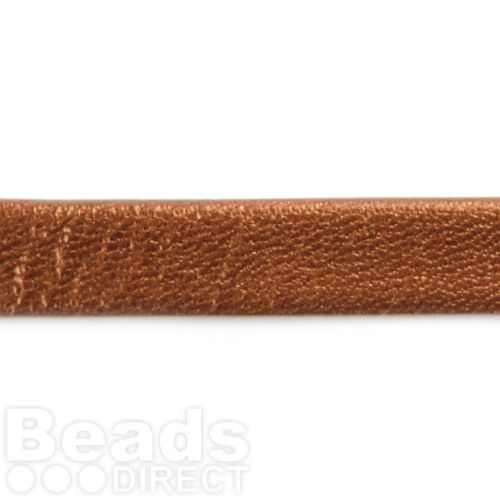 Bronze Metallic Flat Leather 10mm Sold in a 1m Length