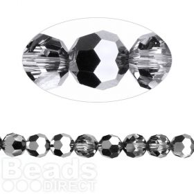5000 Swarovski Crystal Faceted Rounds 6mm Crystal LightChrome Pk12