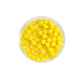 CrystaLove™ crystals / glass / bicone / 4mm / yellow / lustered / 110pcs