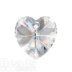 6228 Swarovski Crystal Heart 17.5x18mm Crystal Clear Pk1