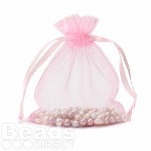 "Pink Organza Bag 5""x6.5"" Pack 5"
