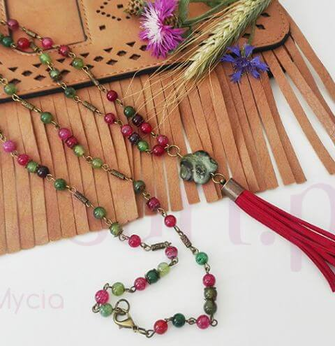How to make a long boho style necklace - a jewellery making tutorial