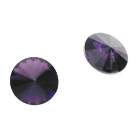 Bonny™ / crystal glass / rivoli / 8mm / Tanzanite / 14pcs