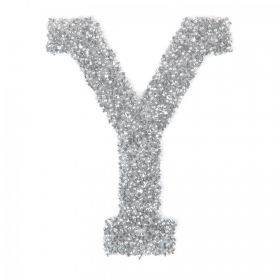 Swarovski Crystal Letter 'Y' Self-Adhesive Fabric-It Transparent CAL Pk1