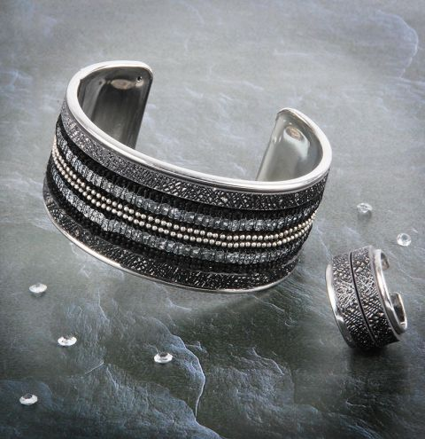 Frosted Lake Bangle & Ring
