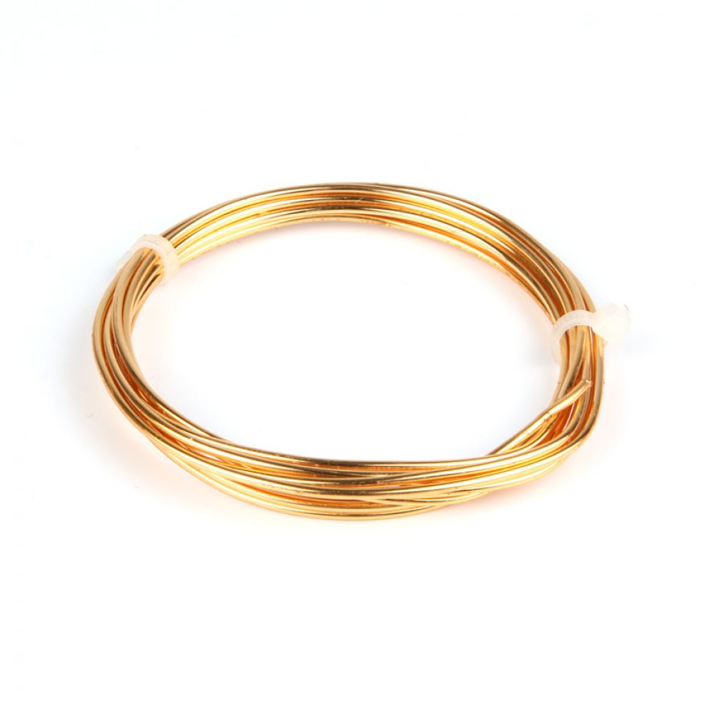 Gilt Plated Copper Wire 1 5mm 1 75metre Coil Beads Direct