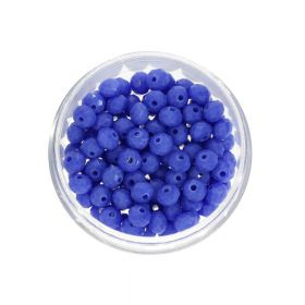 CrystaLove™ crystals / glass / rondelle / 4x6mm / light indigo / lustered / 86pcs