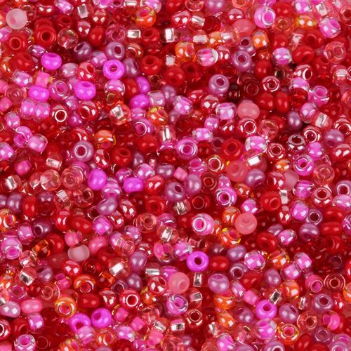 'Pink Lady' Round Seed Bead Mix 10g