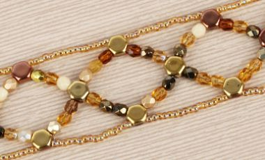 Golden Desert Honeycomb Bracelet Tutorial
