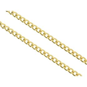 Curb chain / surgical steel / 3x4mm / gold / wire thickness 0.8mm / pre-cut 1m