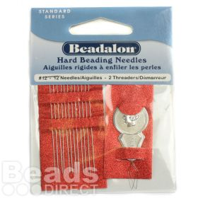 Beadalon Size 12 Beading Needles with Threader Pk12