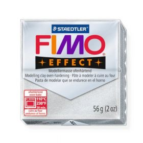 Staedtler Fimo Effect Polymer Clay Metallic Silver 56g(1.97oz)