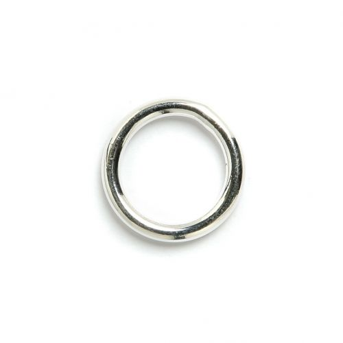 """X"" Silver Plated Soldered Rings 15mm Pk5"
