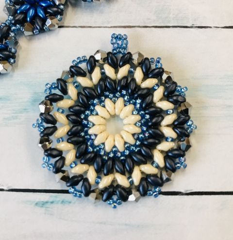 How to make a beaded mandala pendant - jewellery making tutorial