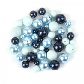 5810 Swarovski Crystal Pearl Bead Mix Blue 20g